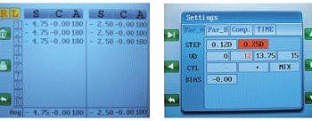 Autorefractometre detail des mesures du RM-9000