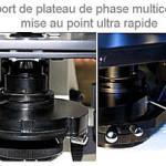 plateau de microscope a contraste de phase