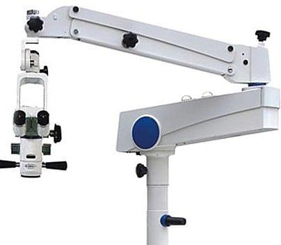 vue du bras et de la tête optique du microscope ASOM 5-A